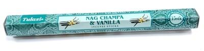 Tulasi: Nagchampa & Vanilla Stick Incense (1 Unit 15 Sticks)