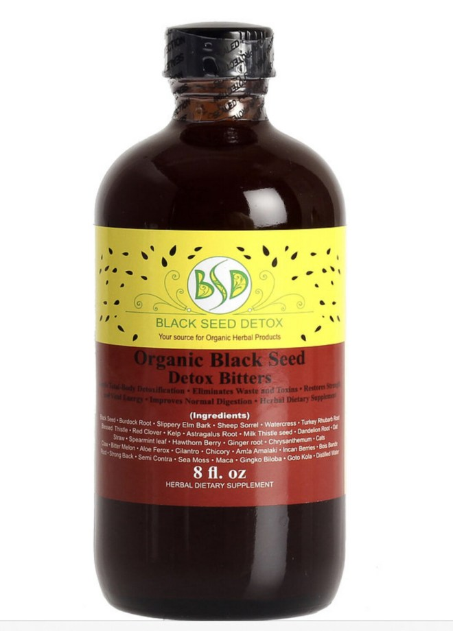 Organic Black Seed Detox Bitters 8oz