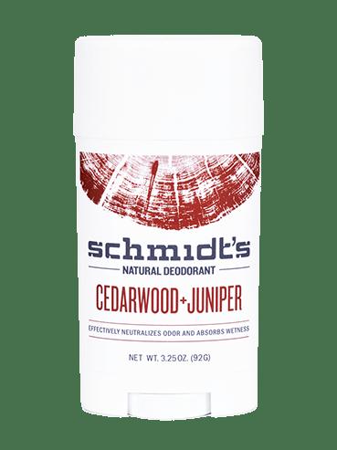Schmidt's Cedarwood + Juniper DEODORANT STICK - 3.25 OZ.