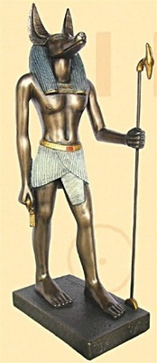 Anubis Egyptian God Statue, Bronze