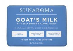 Sunaroma Soap-  Goat's Milk with Shea Butter & Manuka Honey