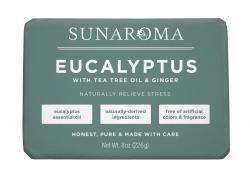 Sunaroma Soap- Eucalyptus with Tea Tree & Ginger