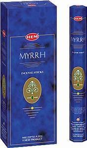 Hem Incense  - Myrrh (6 Packs of 20 Sticks)