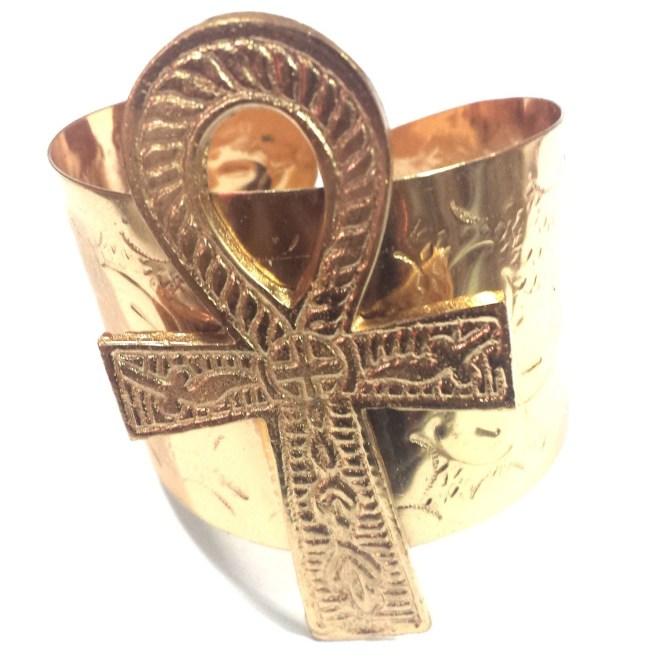 Ankh Bracelet (Brass)