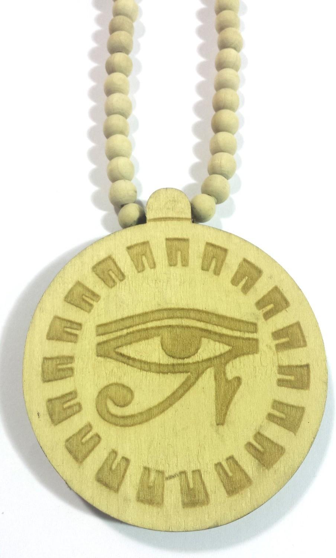 Eye Of Horus (Heru) Wooden Necklace