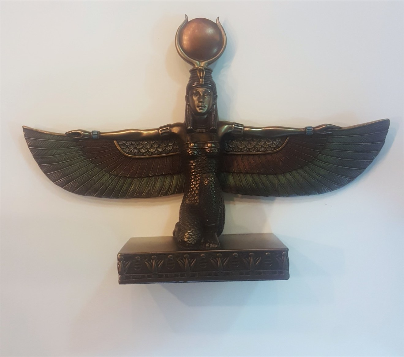 Kemetic Isis Kneeling with Outstretched Wings