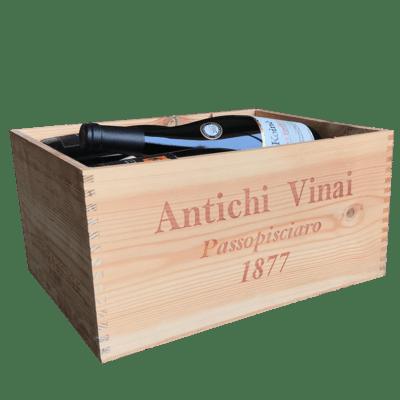 Confezione in legno 6 bottiglie Etna
