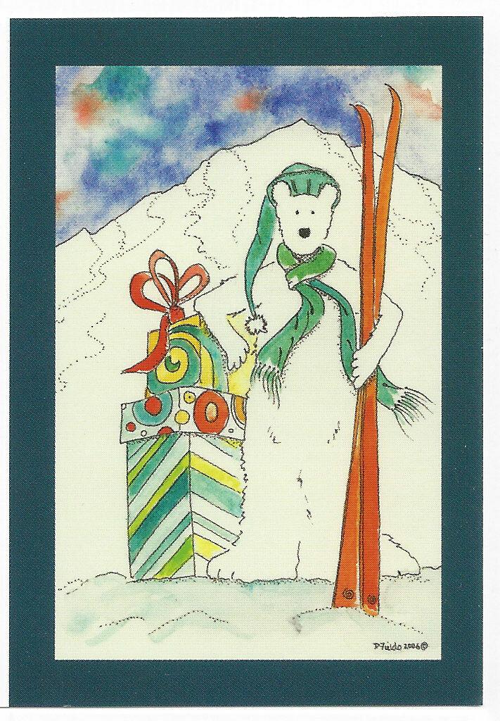 Ski Bear mini card pack