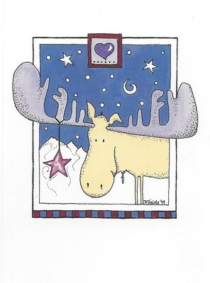 Moose by Starlight pack of cards
