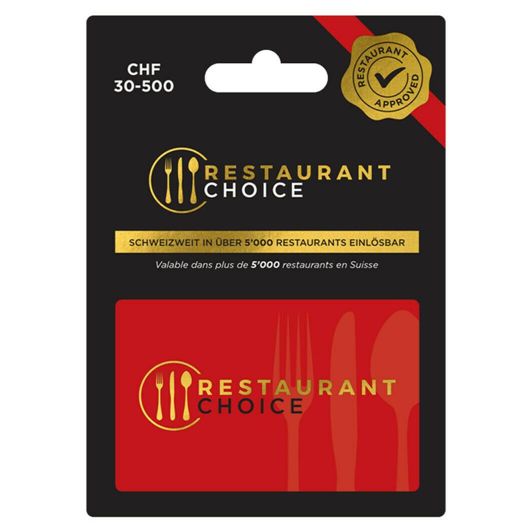 RESTAURANT CHOICE 30-300 FR. VARIABEL ***GRATUIT / CARD
