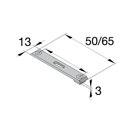 ELEGANCE Entretoise de fixation plafond – rails parallèles