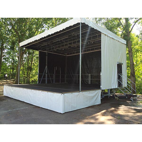 Scène mobile pro complète sur remorque routière 7,83 m x 6,2 m SAMIA