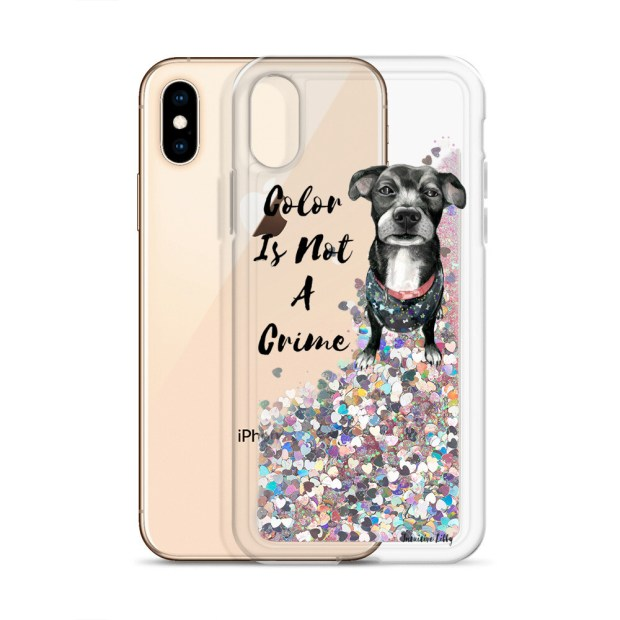 Color Is Not A Crime - Liquid Glitter iPhone Case