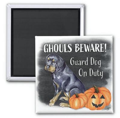Ghouls Beware Magnet - Dezi