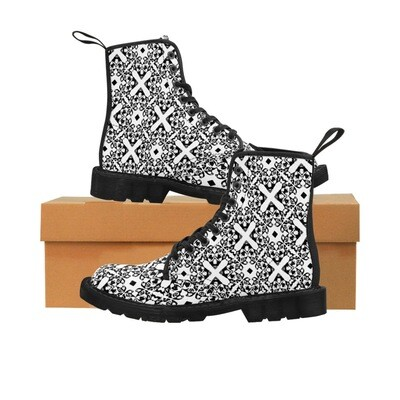 Lady Like Pitbull Print canvas Boots - Women's