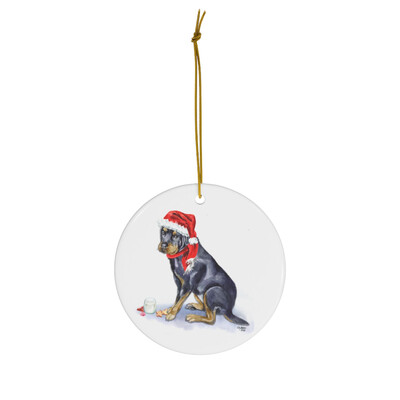 Cookies For Santa - Rottweiler Ornament