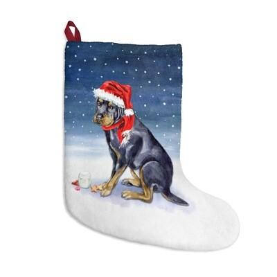 Santa, (Fur)Baby stocking - Rottweiler