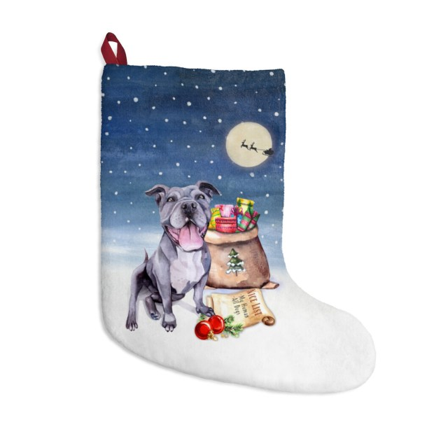 Santa, (Fur)Baby Stocking - Pitbull