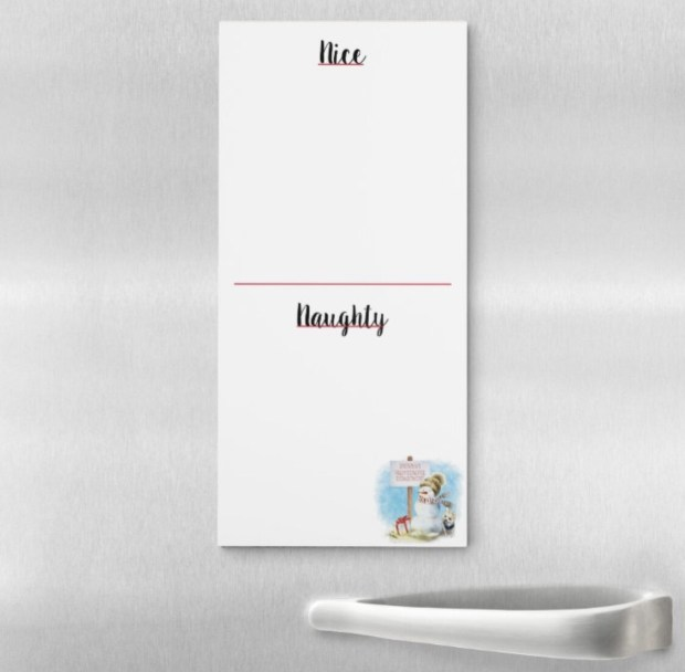 Naughty Or Nice Magnetic Notepad - Chihuahua