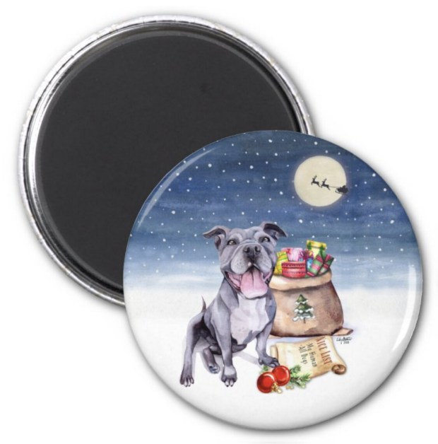 Santa, (Fur)Baby Magnet - Pitbull