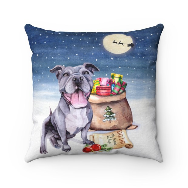 Santa (Fur)Baby Pillowcase - Pitbull - Night Sky Edition