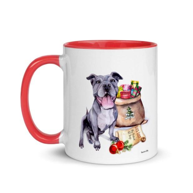 Santa, (Fur) Baby Mug - Pitbull