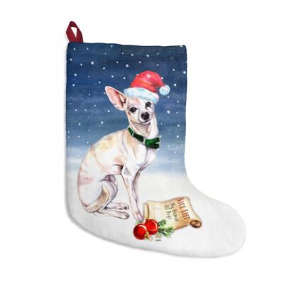 Santa, (Fur)Baby Stocking - Chihuahua
