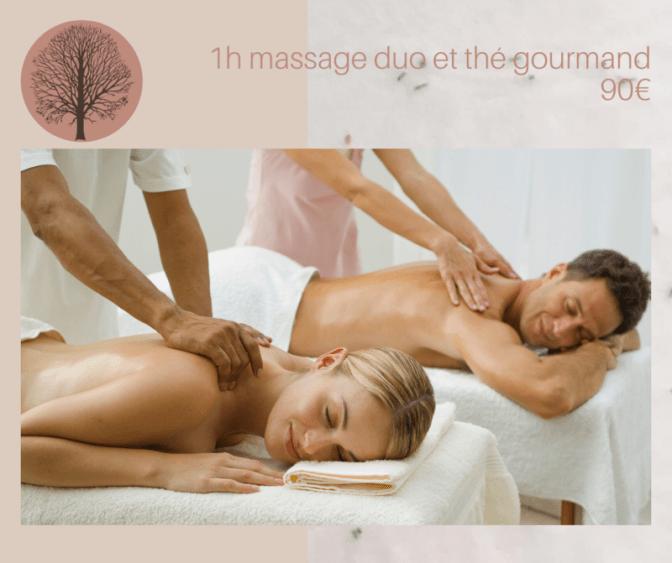 Massage émotions et thé gourmand en duo
