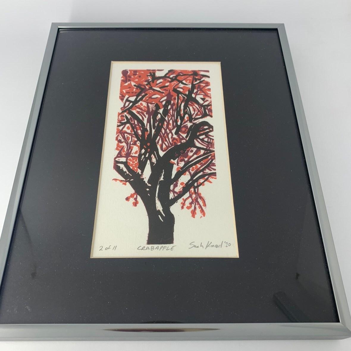 Crabapple by Sarah Konrad (linoleum cut print)