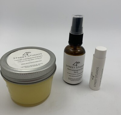 Mint Lemongrass Face Spray, Calendula Healing Salve and/or Mint lavender chapstick - Select one or all!