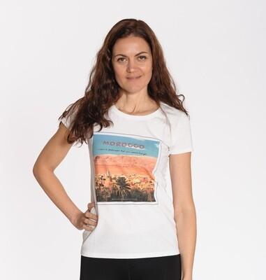 MOROCCO. Travel t-shirt white