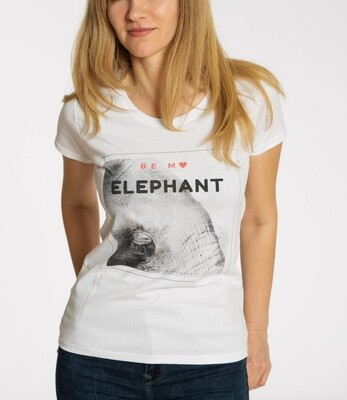 BE MY ELEPHANT. Travel tee for her white