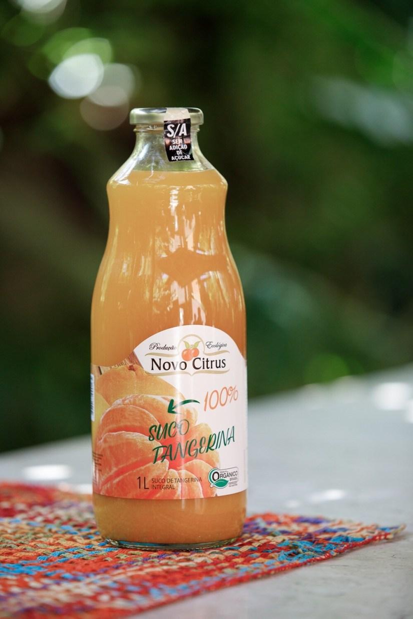 Suco de tangerina integral orgânico Novo Citrus