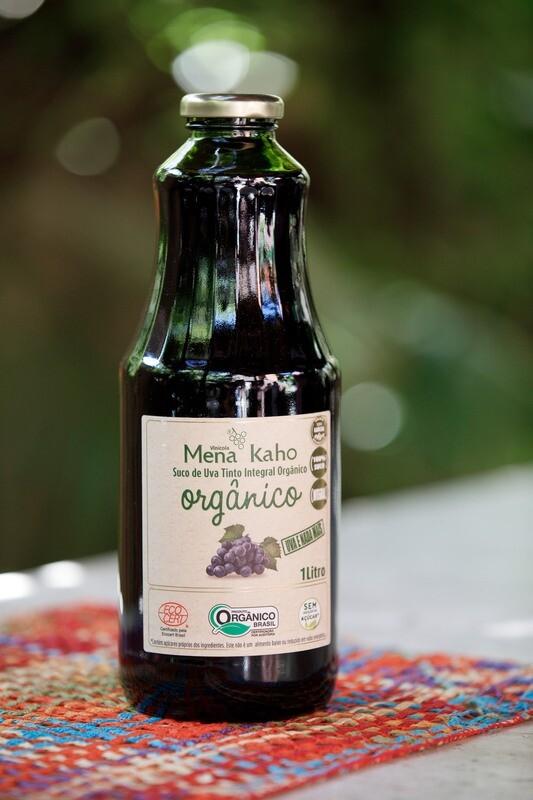 Suco de uva tinto integral orgânico Mena Kaho