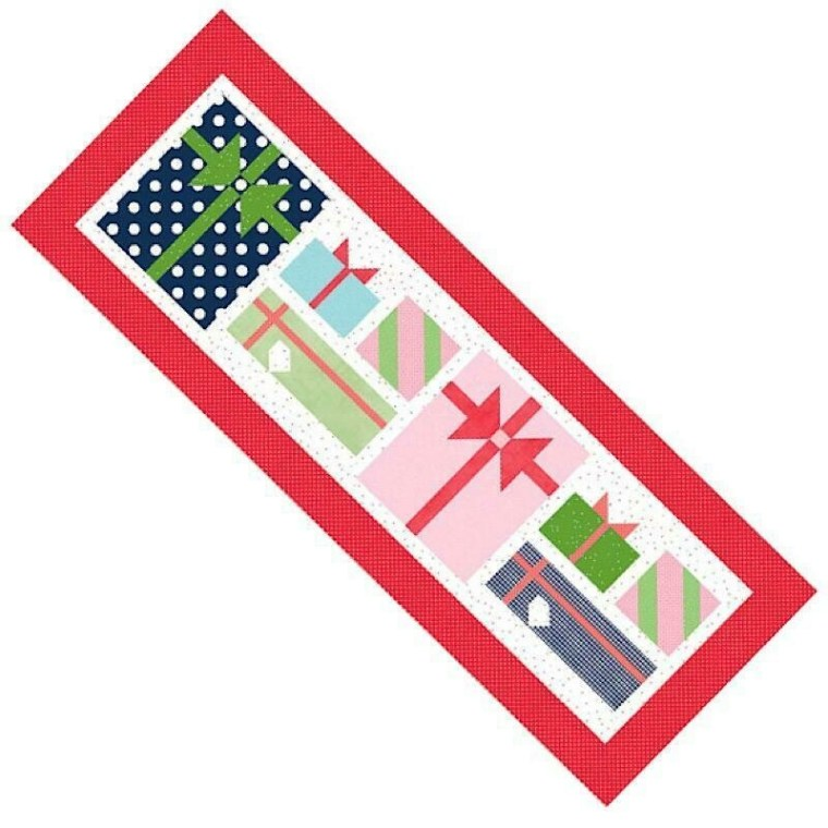Christmas Packages Table Runner