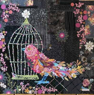 Song Bird Collage Pattern
