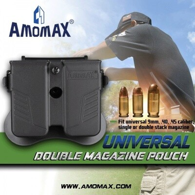 Amomax Universal Double Magazine Pouch: Black