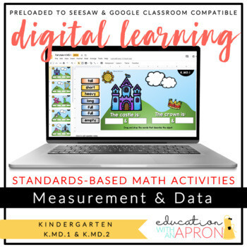 Distance Learning: Measurement & Data (K.MD.1 +K.MD.2) for Seesaw & Google Apps