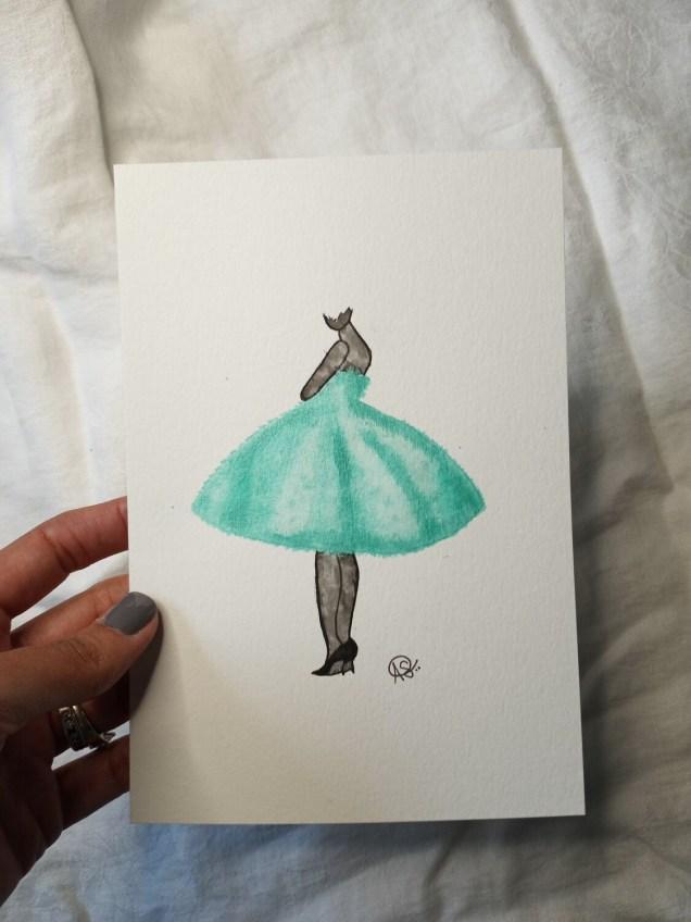 Teal Painted Lady -ORIGINAL