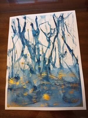 Blue Magic - ORIGINAL Abstract Watercolor