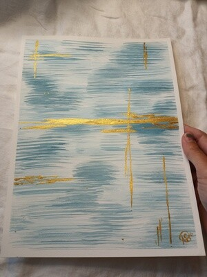 Simple Blue -ORIGINAL- Abstract Watercolor