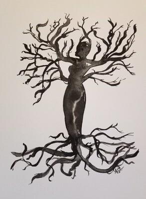 Lady of Life - ORIGINAL - watercolor