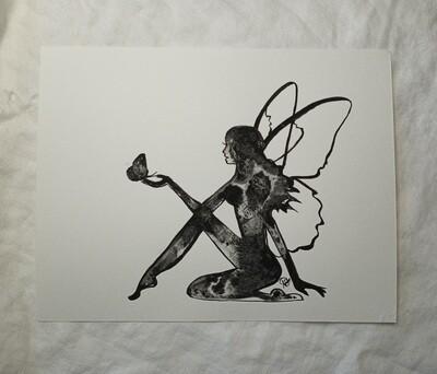 Fluid Fairy Butterfly Series - ORIGINAL  - watercolor