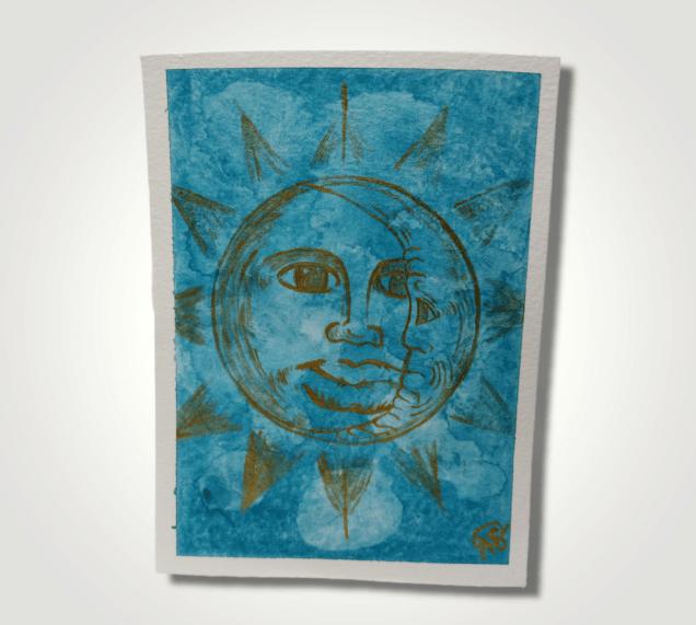Mini SunMoon Painting