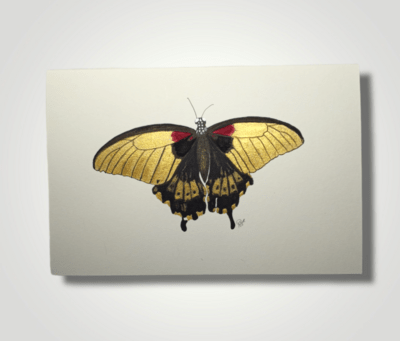Golden Butterfly - ORIGINAL - Watercolor