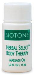 Herbal Select Body Therapy Massage Oil Trial Size