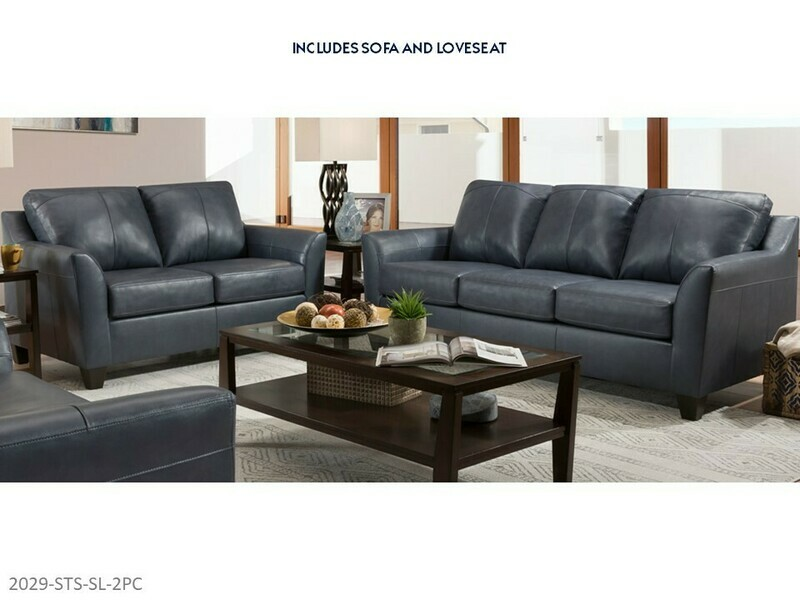 Soft Touch Shale Sofa and Loveseat by Lane