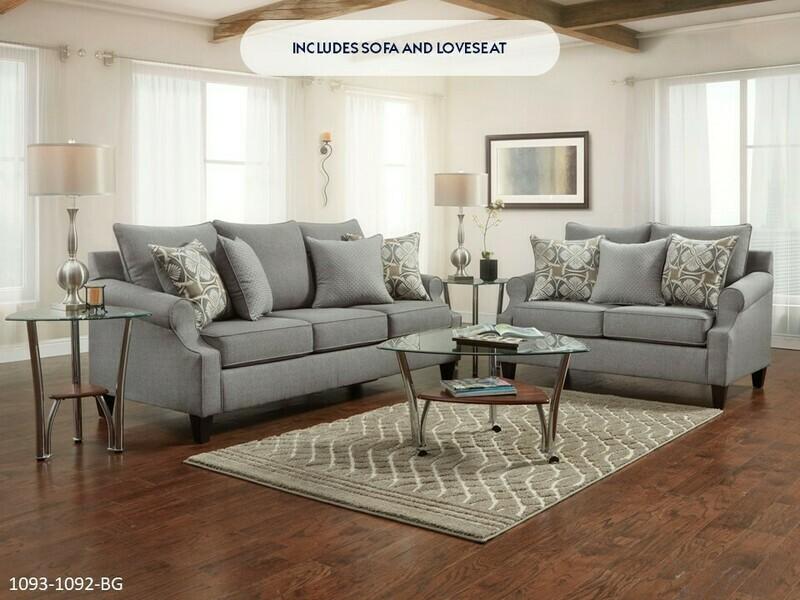 Bay Ridge Gray Sofa and Loveseat by Washington
