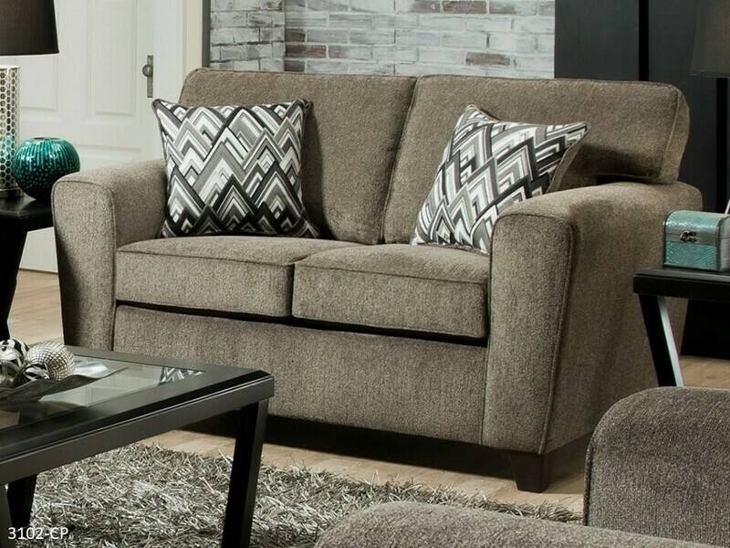 Cornell Pewter Loveseat by American Manufacturing