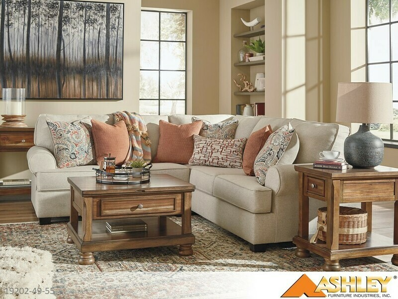 Amici Linen Stationary Sectional by Ashley (2 Piece Set)